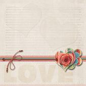 Gelukkige valentijnskaarten dag. achtergrond met ruimte voor tekst of foto — Stockfoto