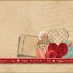 Счастливый Day.Retro Валентина карты — Стоковое фото