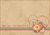 Be my Valentine. Retro card — Stock Photo