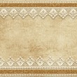 Gorgeous vintage background with lace — Stock Photo