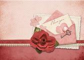 Amore bella carta. retro cartolina per san valentino — Foto Stock