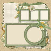 365 Project. scrapbooking templates.family album — Stock Photo