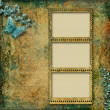 Vintage background with photo-frame — 图库照片