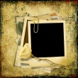 Royalty-Free Stock Photo: Vintage shabby background with polaroid-frame