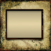 Vintage shabby background with frame of film-strip — Stock Photo