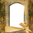 Vintage background with old photo frame — Stock Photo #25323263