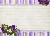 Vintage superb bakgrund med jasmine och med utrymme för text — Stockfoto