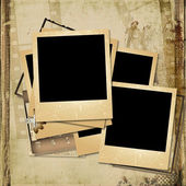 Vintage gorgeous background with a polaroid-frames — Stock Photo