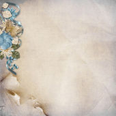 Vintage background with turquoise flowers — Stock Photo