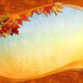 Alte Herbst Karte — Stockfoto
