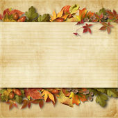 Vintage background with autumn leaves — Foto Stock
