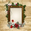 Christmas frame — Stock Photo