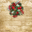 Christmas wreath — Stock Photo