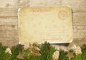 Christmas vintage postcard — Stock Photo