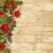 Christmas beautiful garland — Stock Photo