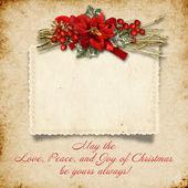 Christmas vintage background — Stock Photo