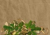 Tarjeta de Navidad Vintage — Foto de Stock