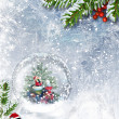 Snow globe with Santa — Stock Photo