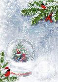 Snow globe with Santa — Foto de Stock