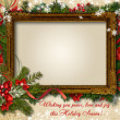 Vintage Сhristmas card with frame for photo or text — Stock Photo #37718405