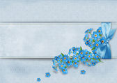 Background with forget-me-not flowers — Stock Photo