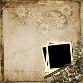 Background with polaroid-frame — Stock Photo