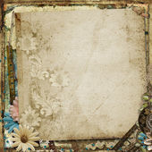 Vintage background with flowers — Stock Photo