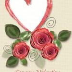 Greeting Card to St. Valentine's Day — Stok fotoğraf #4901279