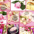 Stockfoto: Wedding accessories and roses