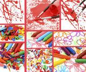 Farby do rysunku — Zdjęcie stockowe