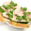 Sandwich with a ham — Stock Photo
