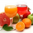 Foto de Stock  : Fresh fruit and juice