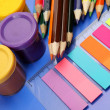 Color paints and pencils — Stockfoto