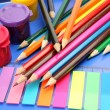 Color paints and pencils — Stock Photo #13547506
