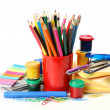 Color paints and pencils — Stock Photo