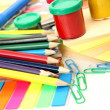Color paints and pencils — Stock Photo #13547765