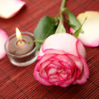 Candle and rose — Stock Photo #1391306