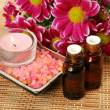 Subjects for an aromatherapy and massage - Photo