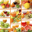 Stock Photo: Collage from ripe fruit