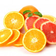 Ripe oranges and tangerines — Stockfoto