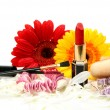 Decorative cosmetics and flowers — Stock Photo #17345999