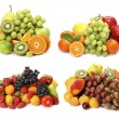 Collage from ripe fruit and berries — Stock Photo