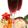 Wine and rose — Stock Photo #17824753