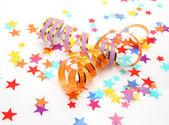 Streamer och konfetti — Stockfoto