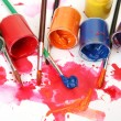 Brushes and paints — Stock Photo #17849539