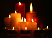 Burning candles — Foto Stock