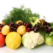 Fresh vegetables and fruit - Stock Photo