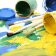 Brushes and paints — Stock Photo