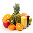 Ripe fruit and juice — Foto de Stock