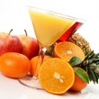 Ripe fruit and juice  — Stock Photo